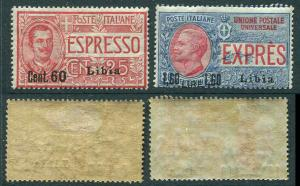 LIBYA Italy Africa 1922 E7 - E8 Special Delivery Surcharged