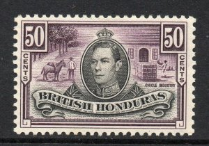 British Honduras 1938 KGVI 50c SG 158 mint CV £40