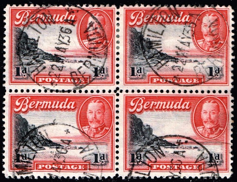 UK STAMP BERMUDA USED BLK OF 4 STAMPS  COLLECTION LOT #3