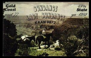 QSL QSO RADIO CARD Gold Coast State,Sundance,Lady Sundance, (Q3668)