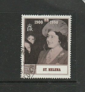 St Helena 1990 90th Birthday Queen Mother £1 FU SG 571