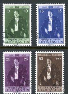 Liechtenstein 303-306 used prince birthday cv $9      (Inv 001074.)
