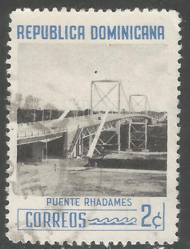 DOMINICAN REPUBLIC 519 VFU BRIDGE 401F-5