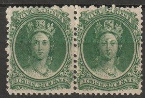 Nova Scotia 1860 Sc 11 pair MNH**