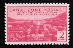 CANAL ZONE 121 2 cents 25th Anniversary Stamp unused OG LH EGRADED VF-XF 85