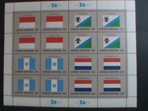 UNITED NATION-1989 SC#554-557 U. N. FLAGS SERIES MNH FULL SHEET- VERY FINE