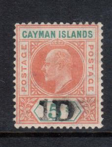 Cayman Islands #19 Very Fine Never Hinged **With Certificate**