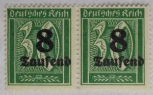 1923 German Realm 8,000on30 German Reichsmark SGDR 275 14 x 14¼