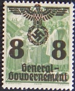 Reich, Poland, 1940, Polish Postage Stamps Overprinted, YT #33, (1591-Т)