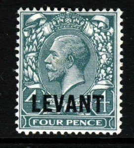 BRITISH LEVANT KG V 1921 Overprinted 4d. Grey-Green SG L20 MINT