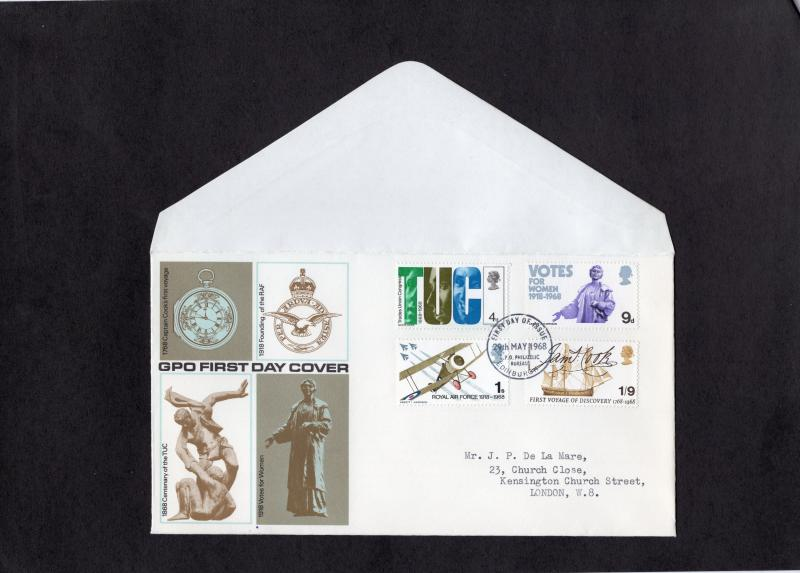 Great Britain  #564-567  1968  anniv  FDC  Edinburgh Philatelic bureau