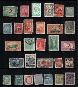 Turkey  29  different mint hinged and used