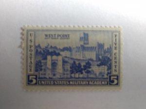 SCOTT # 789 UNITED STATES WEST POINT SINGLE MINT NEVER HINGED GEM QUALITY