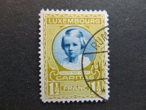 A4P27F128 Letzebuerg Luxembourg Semi-Postal Stamp 1928 1 1/2fr + 50c used