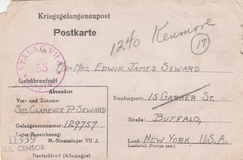 Germany POW Camp Stalag VIIA To US (S3220L)