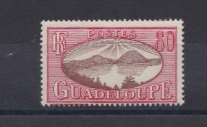 FRENCH COLONIES GUADELOUPE  1928 - 40  80C BROWN CARMINE  MH