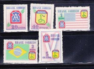 Brazil 635-639 Set MH Various (B)
