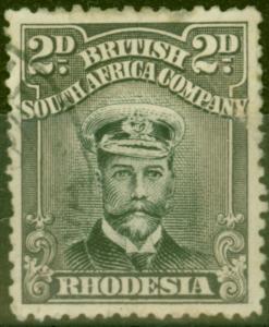 Rhodesia 1923 2d Black & Slate-Purple SG292 Good Used