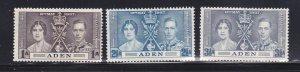 Aden 13-15 Set MH Coronation Issue