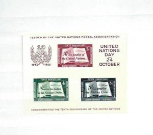 UN New York  1951-1980 including S/S complete MNH