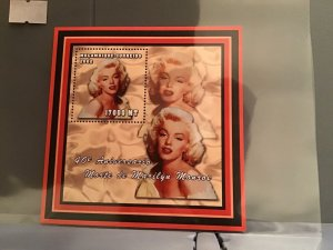 Mozambique 2002   Anniversary of death  Marilyn Monroe MNH stamp sheet R23911