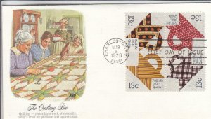 1978, Quilting Bee, Fleetwood, FDC (D14951)