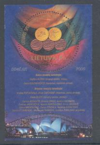 Lithuania Sc 684 2000 Olympic Medals stamp sheet used