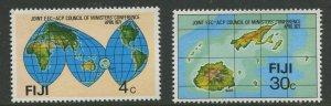 STAMP STATION PERTH Fiji #374-375 General Issue 1977 - MNH CV$0.85