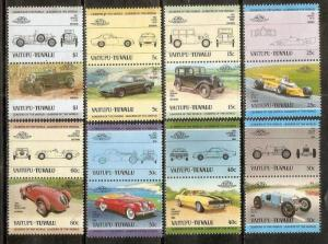 Tuvalu - Vaitupu 1985 Motor Cars Automobiles Transport 16V MNH # 3520