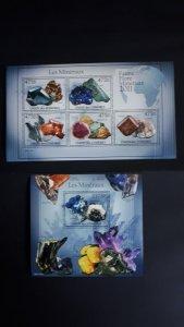 Comoro Islands 2011. - Minerals (475) ** MNH Sheet + Block (perf.)