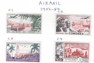 COMORO ISLANDS AIRMAIL  MINT  SCV $64.00 AT A LOW PRICE!!!!!