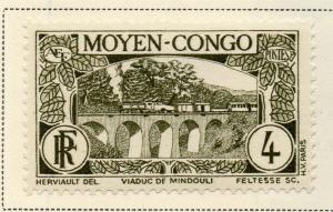 Middle Congo 1933 Early Issue Fine Mint Hinged 4c. 324742