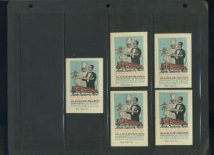 5 BERLIN 1928 Kingdom's Innkeeper Fair  POSTER STAMPS (L1060) GERMANY