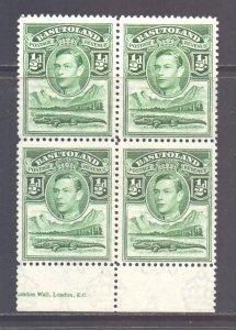 Basutoland Scott 18 - SG18, 1938 George VI 1/2d Block of 4 MNH**