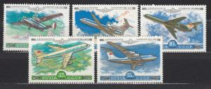 Russia - Soviet Union - 1979 Aviation Sc# C122/C126 - MNH (802N)