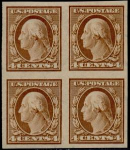 #346 SUPERB OG (2)NH (2)LH BLOCK OF 4 CV $92.50 BQ6202