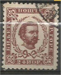 MONTENEGRO 1894, used 2fl, Prince Nicholas I Scott 44
