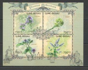 BC534 2012 GUINEA-BISSAU NATURE FLORA FLOWERS MEDICAL PLANTS KB MNH