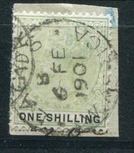 QV NIGERIA LAGOS 1887-1902 ISSUES 1/- SG 38 FINE USED (3)