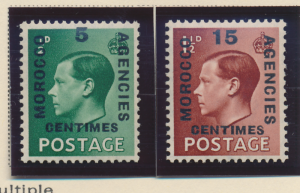 Great Britain, Offices In Morocco Stamps Scott #437 To 438, Mint Hinged - Fre...