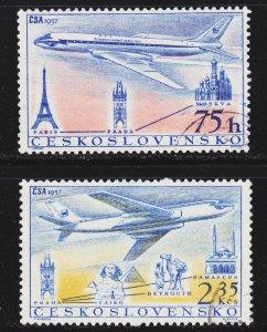 Czechoslovakia Scott C45-46 complete set F to VF used.
