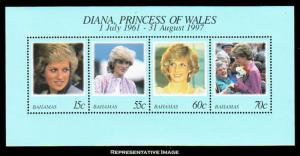 Bahamas MNH S/S 902 Diana Princess Of Wales 1997