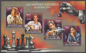 2014 Central African Republic 5170-73KL Chess / Grandmasters 14,00 €