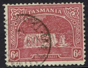 TASMANIA 1905 DILSTON FALLS 6D TYPOGRAPHED WMK CROWN/A PERF 11 USED