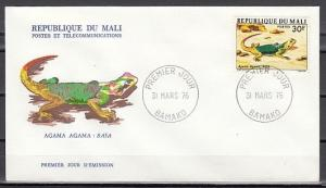 Mali, Scott cat. 251. Lizard value on a First day cover.