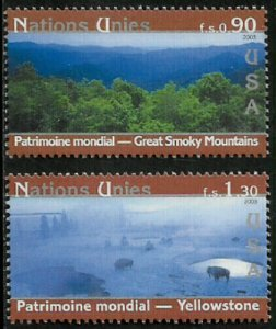 UN, Geneva #415-6 MNH Set - World Heritage Sites - USA