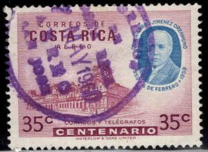 Costa Rica Scott c276 Used  stamp slight thin
