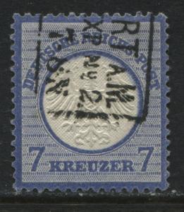 Germany 1872 7 kreuzer ultra used