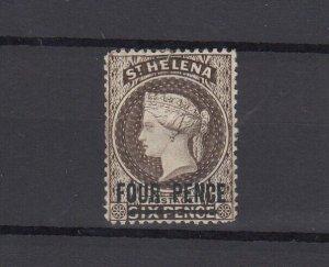 St Helena QV 1884 4d On 6d Brown SG43 MH JK6273