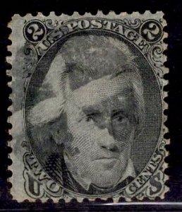 US Stamp #73 2c Black Jackson USED SCV $55